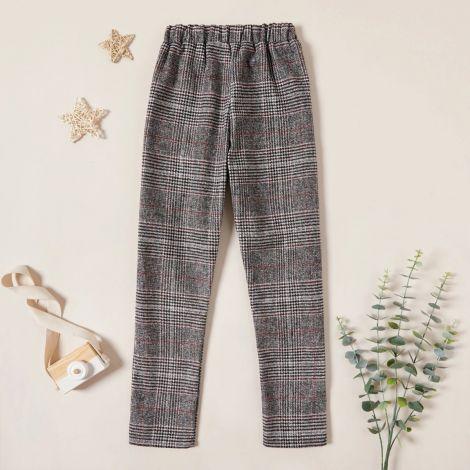 Dekliške hlače s karo vzorcem