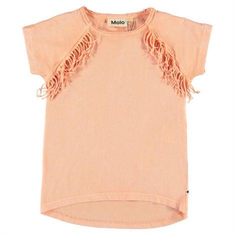 Dekliška majica s kratkimi rokavi pacific coral