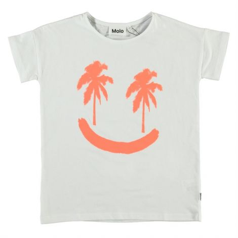 Dekliška majica s kratkimi rokavi neon palmtree