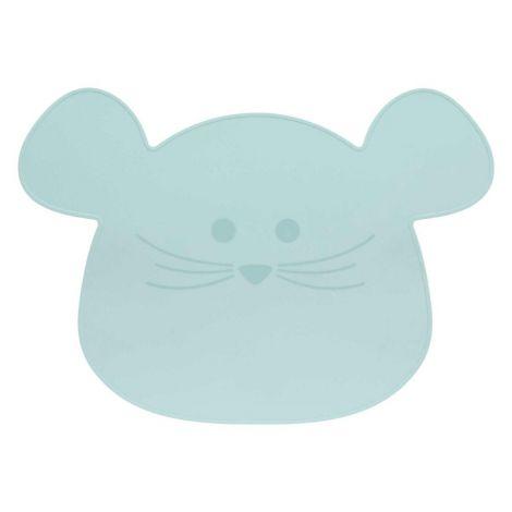 Lässig Podlaga za skledo - silikon - Little Chums Mouse - modra