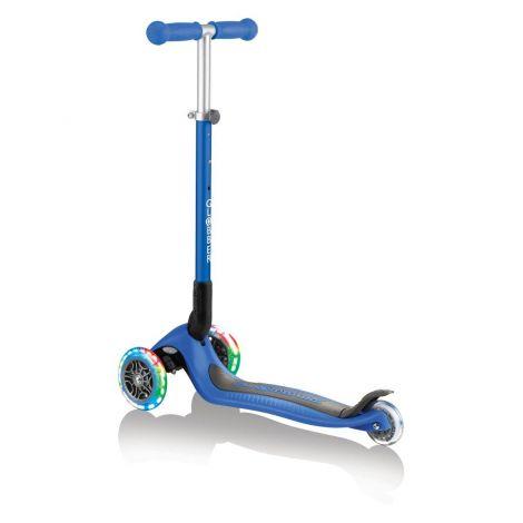 Globber skiro Primo zložljiv, svetleča kolesa - moder
