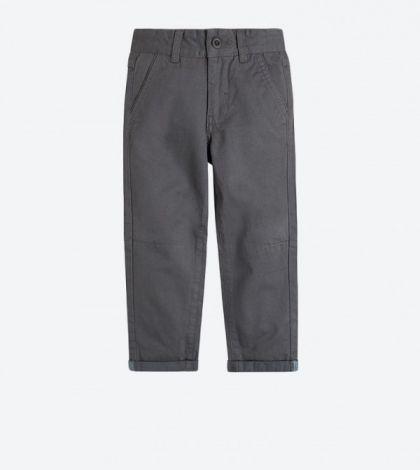 Sive hlače z zavihki