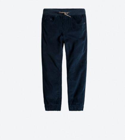 Žametne hlače temno modre barve