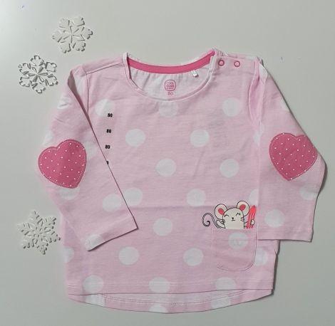 Majica z dolgimi rokavi roza barve