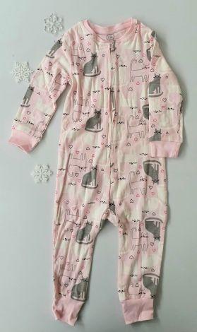 Pižama pajacek roza barve