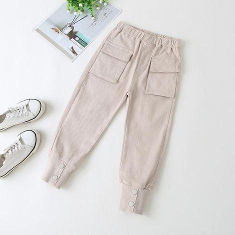 Dekliške hlače s patenti