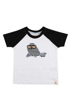 Majica s kratkimi rokavi z našitkom tjulnja